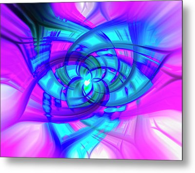 Flower Abstract Metal Print by Penny Lisowski