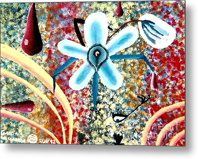 Flower And Ant Metal Print by Luke Galutia