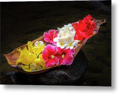 Flower Boat Metal Print