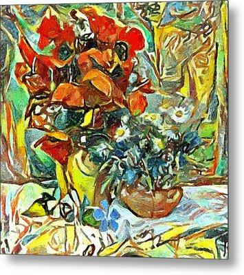 Flower Burst Metal Print by Yury Malkov