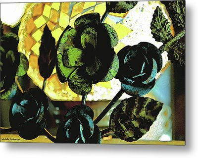 Flower Deco Metal Print by Michelle Ressler