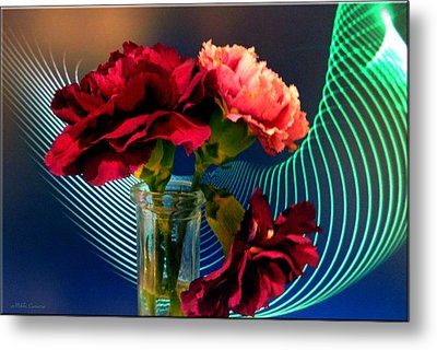 Flower Decor Metal Print by Mikki Cucuzzo