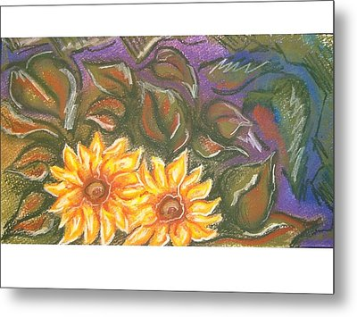 Flower Doodle Metal Print by Candice DeKay