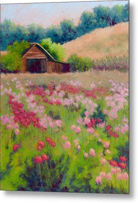 Flower Field Metal Print by Nancy Jolley