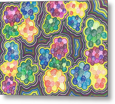 Flower Frenzy Metal Print by Jill Lenzmeier