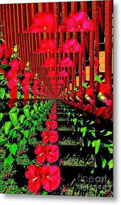 Metal Print featuring the digital art Flower Garden Abstract by Marsha Heiken