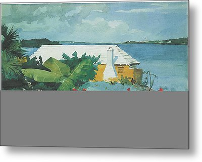 Flower Garden And Bungalow Bermuda Metal Print by Winslow Homer