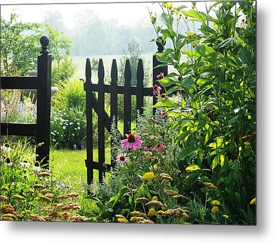 Flower Gate Metal Print by Joyce Kimble Smith