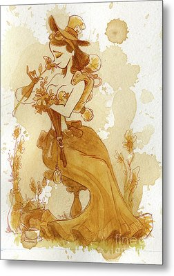 Flower Girl Metal Print by Brian Kesinger