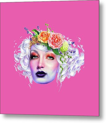 Flower Girl T-shirt Metal Print by Herb Strobino