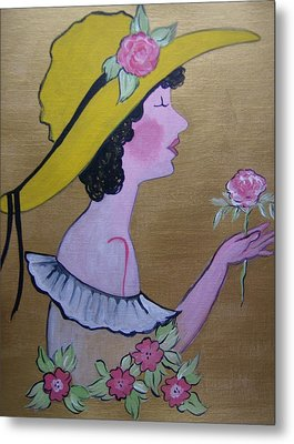 Flower Girl Metal Print by Leslie Manley