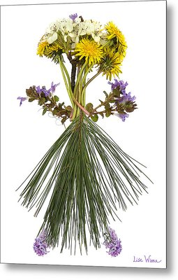 Flower Head Metal Print by Lise Winne