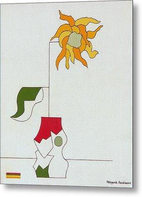 Flower II Metal Print by Hildegarde Handsaeme