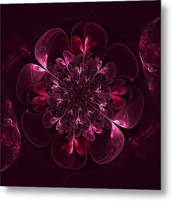 Flower In Bordo Metal Print by Anna Bliokh