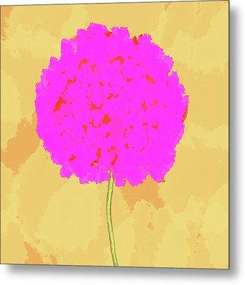 Flower In Pink Metal Print