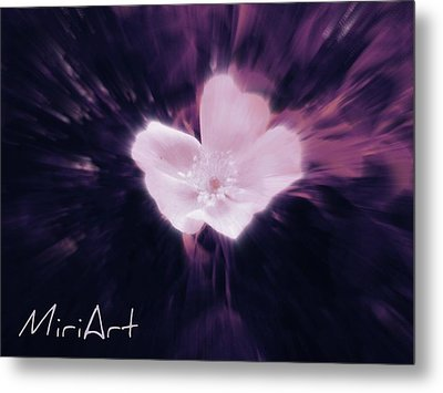 Metal Print featuring the photograph Flower In Purple by Miriam Shaw