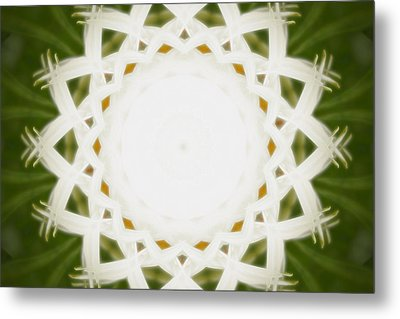 Metal Print featuring the digital art Flower Mandala - C by Anthony Rego