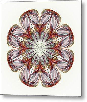 Flower Mandala Metal Print by Anastasiya Malakhova
