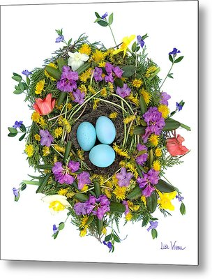 Flower Nest Metal Print by Lise Winne