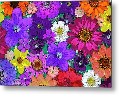 Flower Pond Metal Print by JQ Licensing