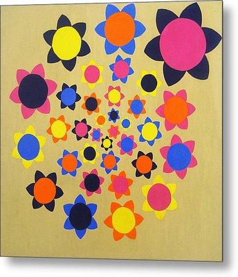 Flower Shower Metal Print by Oliver Johnston