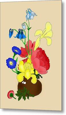 Floral Still Life 1674 Metal Print