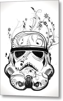 Flower Trooper Metal Print by Nicklas Gustafsson