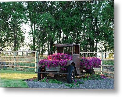 Flower Truck Metal Print