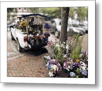 Flower Truck On Nantucket Metal Print by Tammy Wetzel