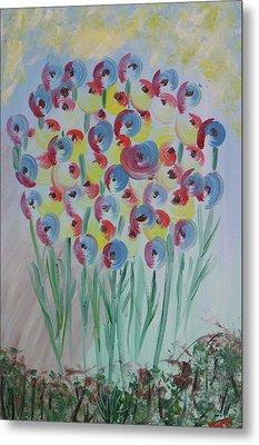 Flower Twists Metal Print by Barbara Yearty