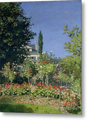 Flowering Garden At Sainte-adresse Metal Print by Claude Monet