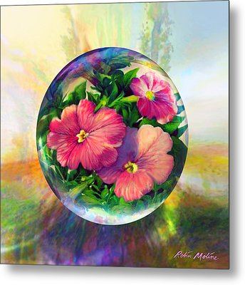 Metal Print featuring the painting Flowering Panopticon by Robin Moline