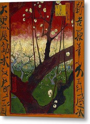 Flowering Plum Tree, After Hiroshige Metal Print by Vincent van Gogh