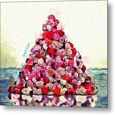 Flowering Pyramid Metal Print