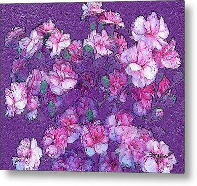 Flowers #063 Metal Print by Barbara Tristan