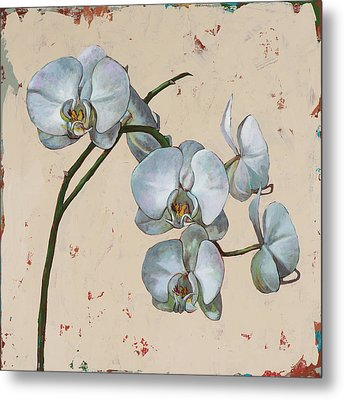 Metal Print featuring the painting Flowers #13 by David Palmer