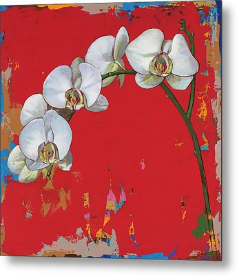 Metal Print featuring the painting Flowers #14 by David Palmer