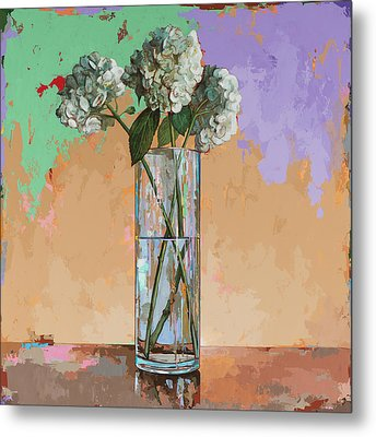 Metal Print featuring the painting Flowers #20 by David Palmer