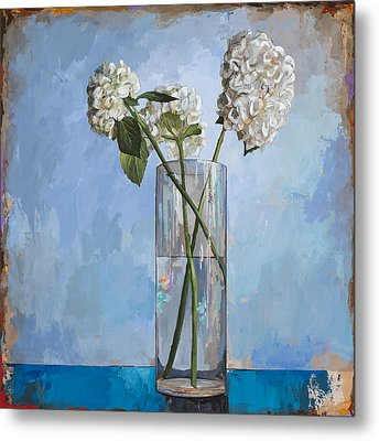 Metal Print featuring the painting Flowers #5 by David Palmer