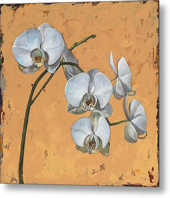 Metal Print featuring the painting Flowers #8 by David Palmer