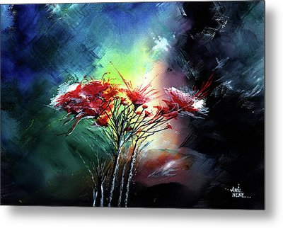 Flowers Metal Print by Anil Nene