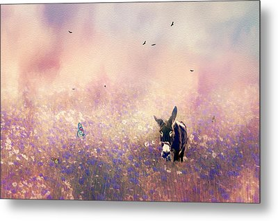 Metal Print featuring the photograph Flowers For Breakfast by Diane Schuster