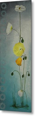 Metal Print featuring the painting Flowers For Everyone by Jane Autry