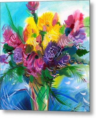 Flowers For My Jesus Metal Print by Karen Showell