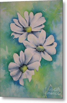 Metal Print featuring the painting Flowers For You by Chrisann Ellis