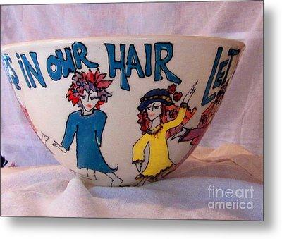 Flowers In Our Hair Metal Print by Lisa Dunn