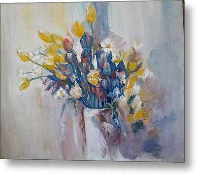 Tulips Flowers Metal Print by Khalid Saeed