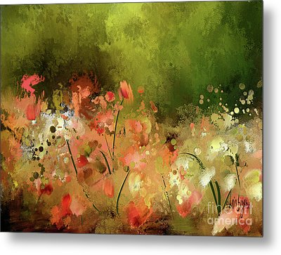 Metal Print featuring the photograph Flowers Of Corfu by Lois Bryan