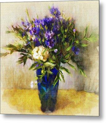 Flowers Still Life Impress Metal Print by Yury Malkov