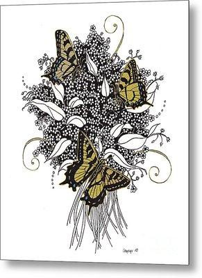 Flowers That Flutter Metal Print by Stanza Widen